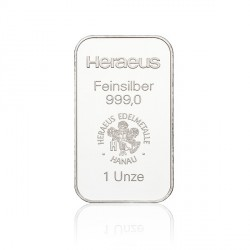 1 Unze Silberbarren (Heraeus)