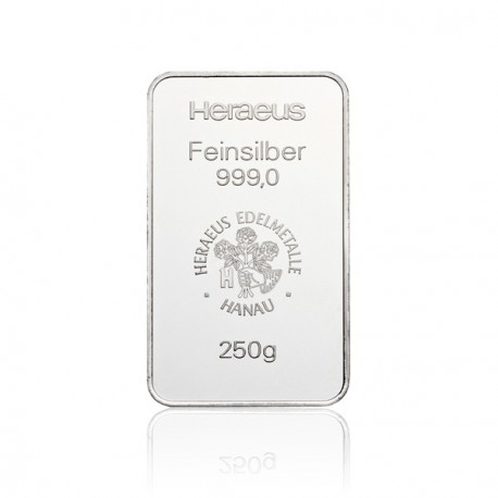 250 Gramm Silberbarren (Heraeus)