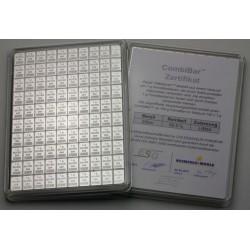100 x 1 Gramm Silber Combibarren (H&M)