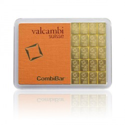 20 x 1 Gramm Gold Tafelbarren Combibarren (Valcambi)