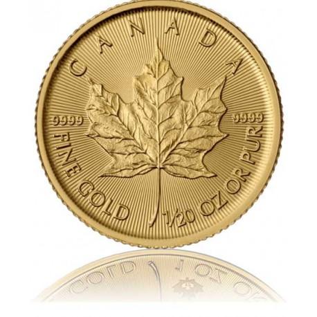 1/20 Unze Gold Maple Leaf 2019
