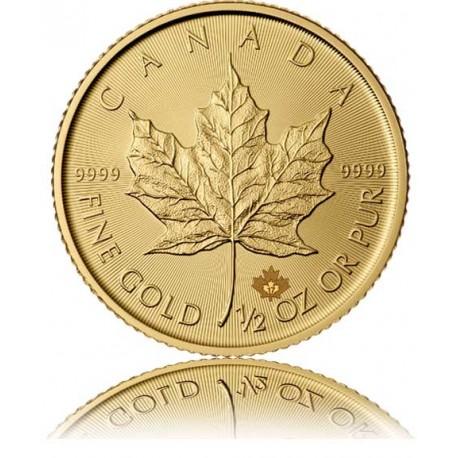 1/2 Unze Gold Maple Leaf 2018