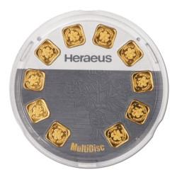 10 x 1 Gramm Goldbarren MultiDisc (Heraeus)