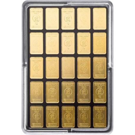 25 x 1 Gramm Goldbarren UnityBox (H&M)