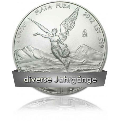2 Unzen Silber Mexiko Libertad