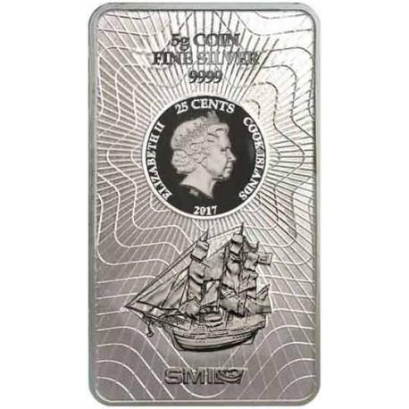 5 Gramm Silber Münzbarren Cook Island