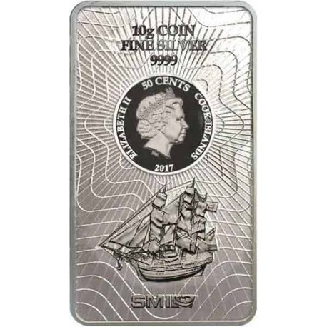 10 Gramm Silber Münzbarren Cook Island
