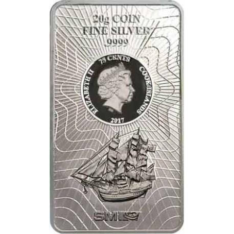 20 Gramm Silber Münzbarren Cook Island