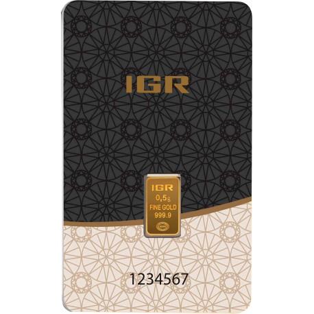 0,5 Gramm Goldbarren (IGR Inc.)