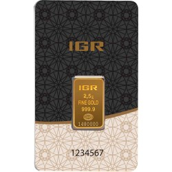 2,5 Gramm Goldbarren (IGR Inc.)