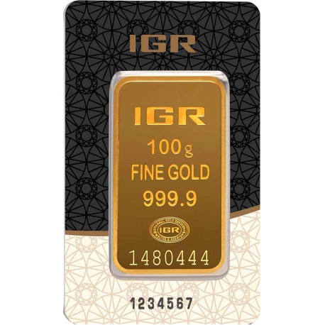 100 Gramm Goldbarren (IGR Inc.)