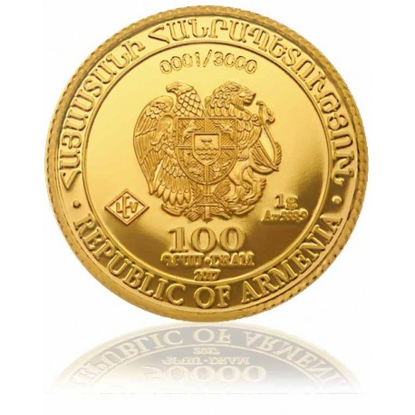 1 Gramm Gold Arche Noah Proof Münze 2017