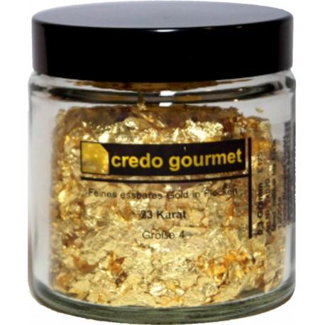 Blattgold - Essbare Goldflocken 23 Karat - Größe 4