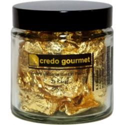 Blattgold - Essbare Goldflocken 23 Karat - Größe 5