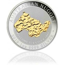 1 Unze Silber Australien Nugget Vergoldet