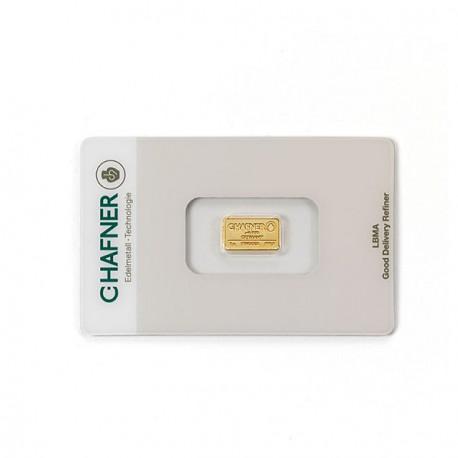 1 Gramm Goldbarren (C. Hafner)
