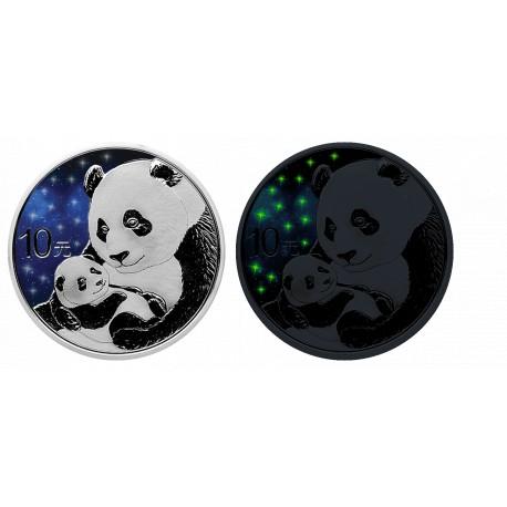 1 Unze Silber GlowingGalaxy Panda 2019