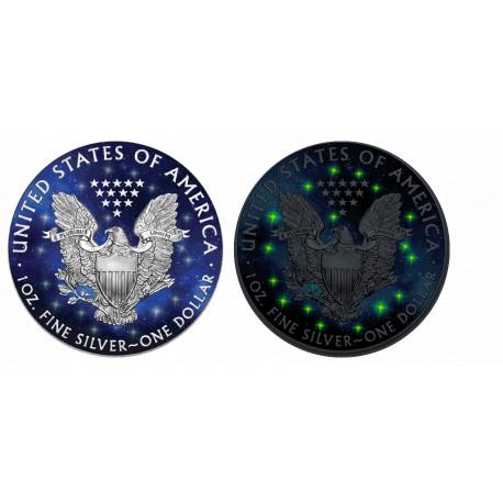 1 Unze Silber GlowingGalaxy American Eagle 2019