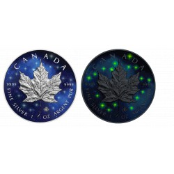 1 Unze Silber GlowingGalaxy Maple Leaf 2019