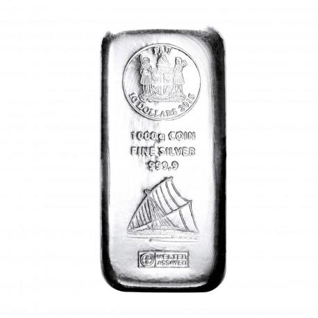 1 Kilogramm Silber Fiji Münzbarren (Argor Heraeus)