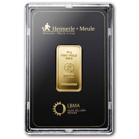 10 Gramm Goldbarren geprägt (H&M)