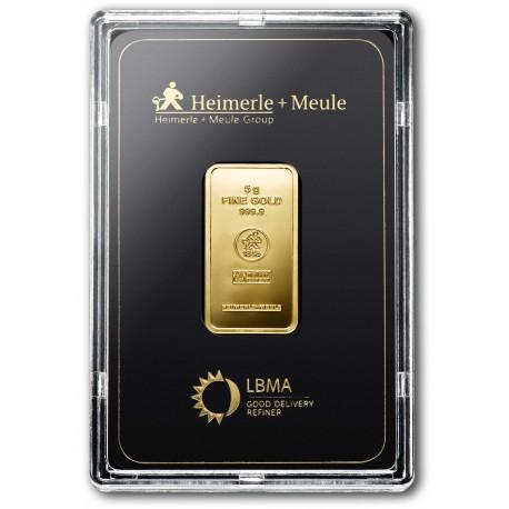 5 Gramm Goldbarren geprägt (H&M)