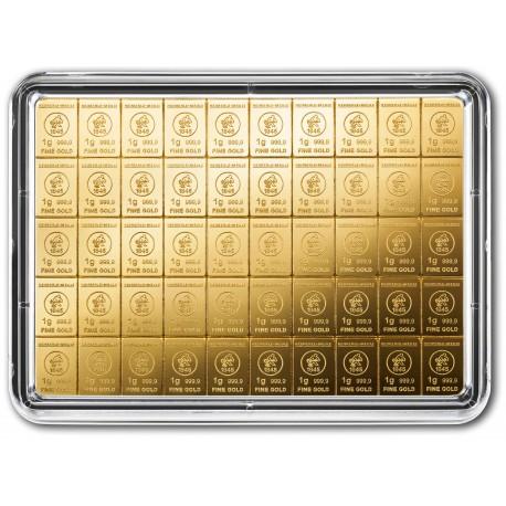 50 x 1 Gramm Gold Combibarren (H&M)