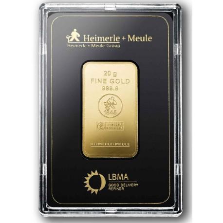 20 Gramm Goldbarren geprägt (H&M)