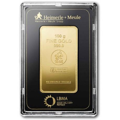 100 Gramm Goldbarren geprägt (H&M)