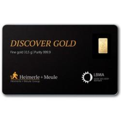 0,5 Gramm FineCard Goldbarren (H&M)