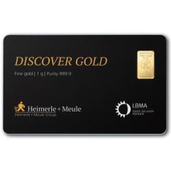 1 Gramm FineCard Goldbarren (H&M)