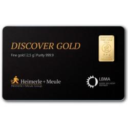 2,5 Gramm FineCard Goldbarren (H&M)