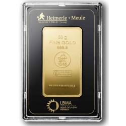 50 Gramm Goldbarren geprägt (H&M)