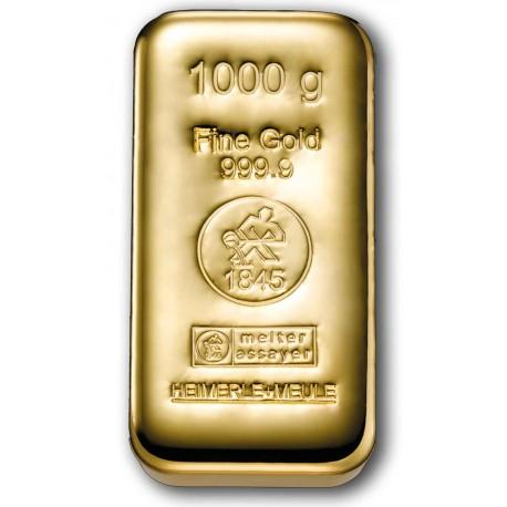 1 Kilogramm Goldbarren gegossen (H&M)