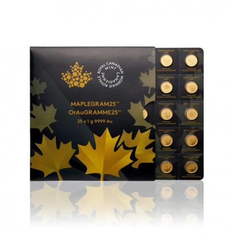Gold Maplegram 2017 (25 x 1g Münzen)
