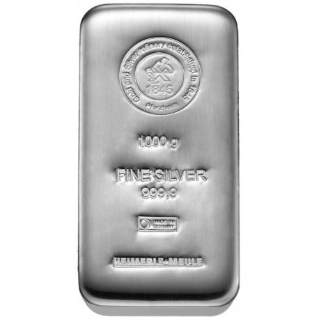 1 Kilogramm Silberbarren gegossen (H&M)