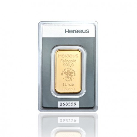1 Unze Goldbarren (Heraeus)