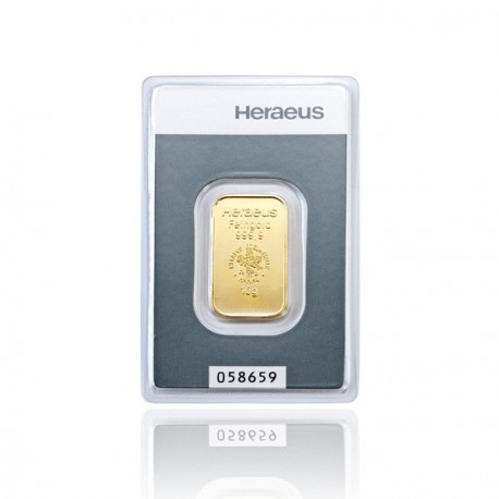 10 Gramm Goldbarren (Heraeus)