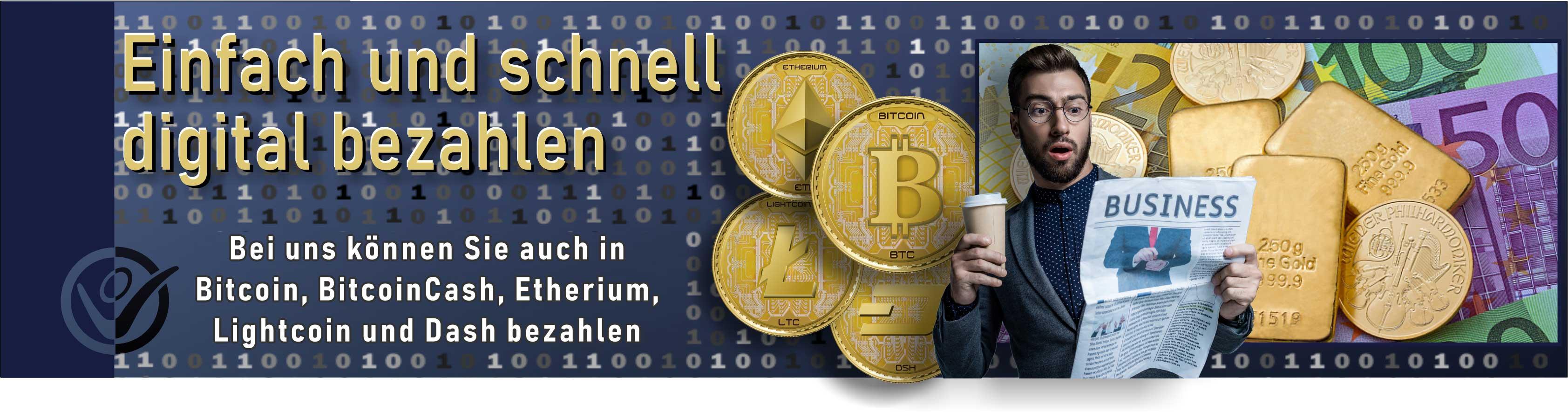 Auflistung 8 verschiedener Kryptowährungen