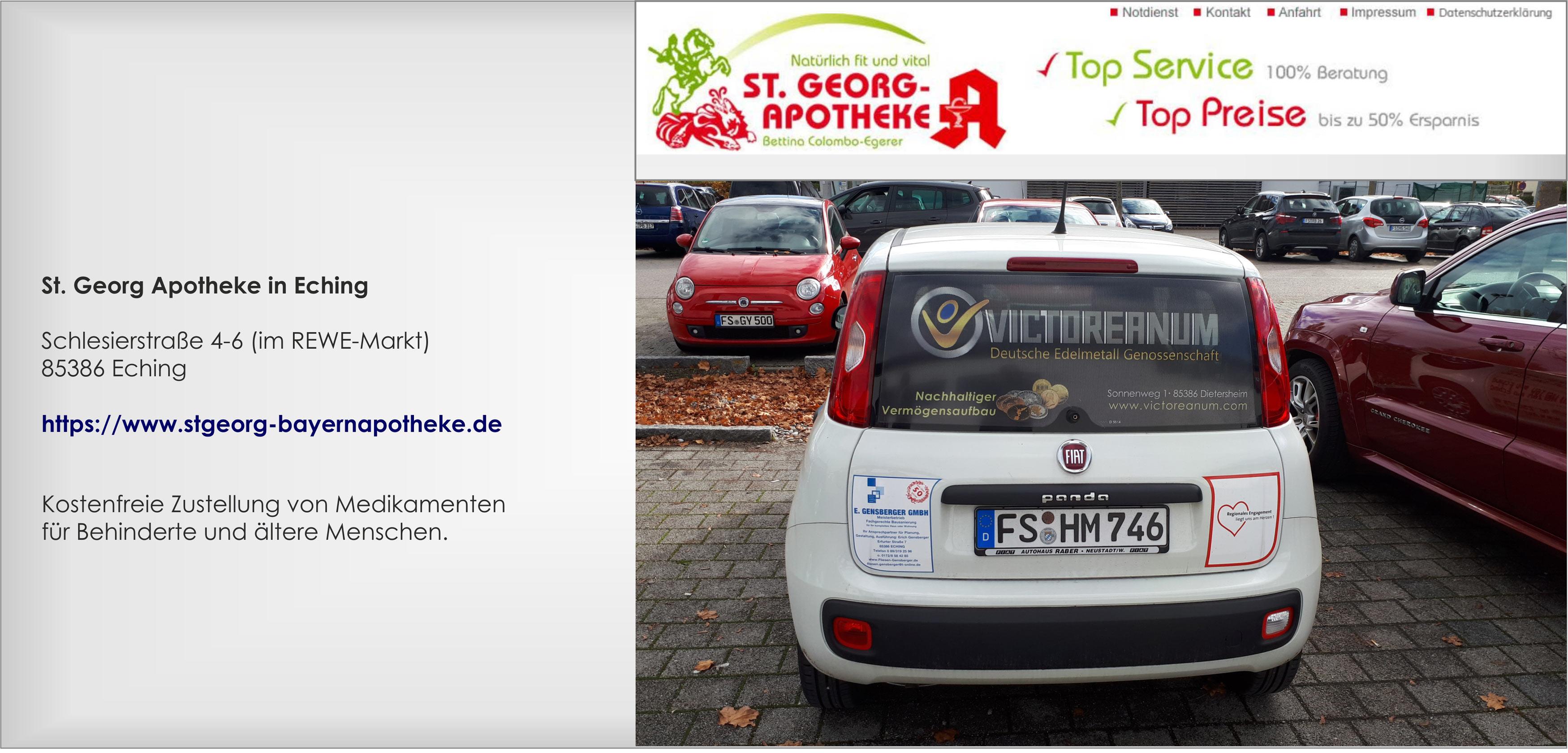 St.Georg Apotheke, Victoreanum-Sponsoring, Soziales Engagement, Apothekenauto