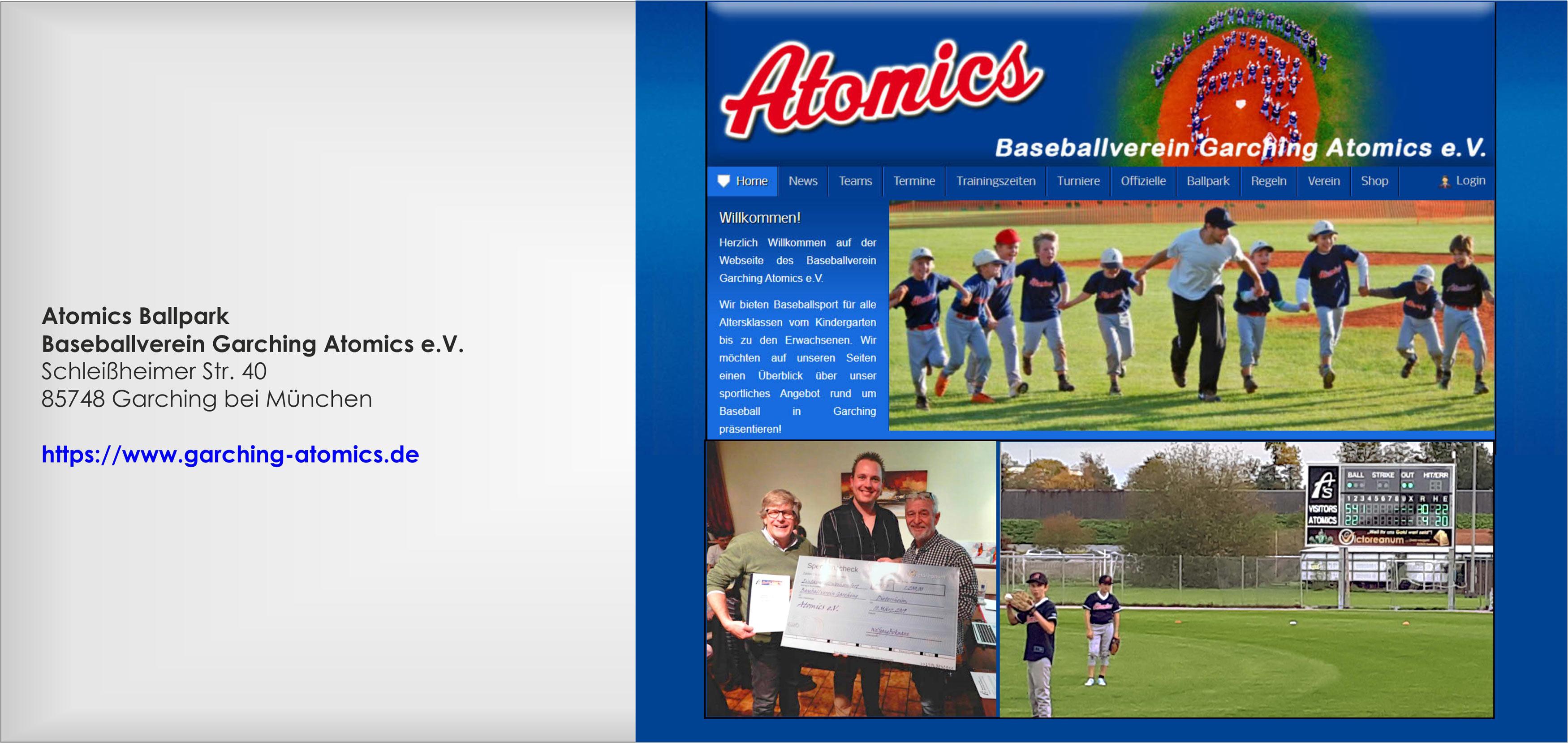 Baseball Garchinger Atomics, Victoreanum-Sponsoring, Soziales Engagement, Wolfgang Birkmann, Rein Warmels, Stefan Sauer