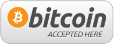 Logo Bitcoin accepted here