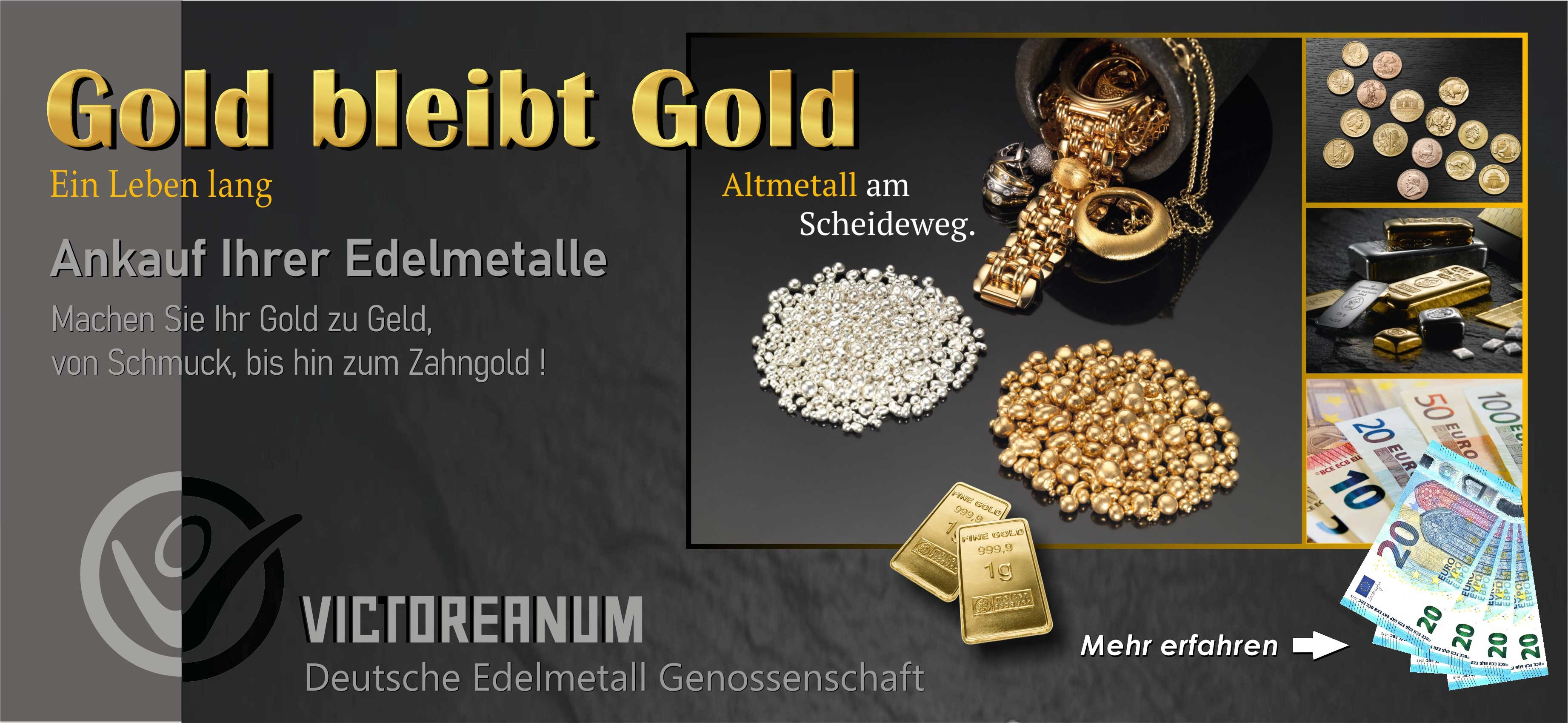 Machen Sie Ihr Gold zu Geld